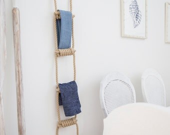 NAUTICAL ROPE LADDER Handmade traditional ladder all rope ladder