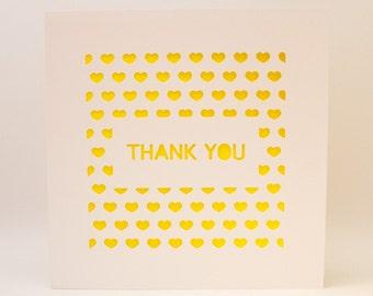 Paper cut 'Thank you' Card