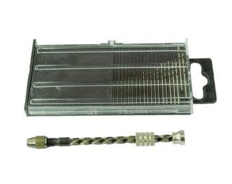 Proops 20 Piece Micro HSS 61-80 Mini Twist Drills & Archimedes Twist Drill. Jewellers, Watch Makers, Modellers. (M0221) Free UK Postage