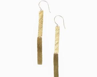 Hammered Minimal Boho CLIFF Dangle Earrings