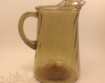 smoke gray glass water beverage drink pitcher swirl design