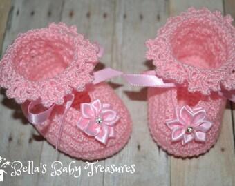 Newborn baby girl booties
