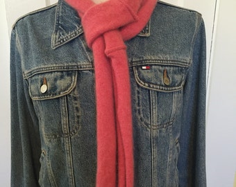 Cashmere Scarf  Pink Cashmere Scarf  Orange Scarf  Infinity Scarf  Winter Scarf  Coral Pink  Pink Cashmere  Gift