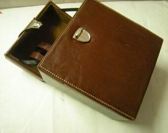 vintage leather camera case-hard case-performer case-lenses straps-storage-organization-
