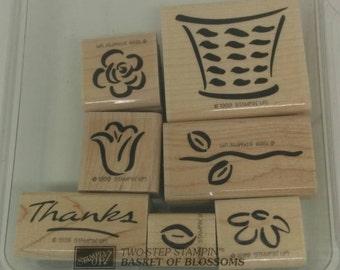 Stampin Up Basket of Blossoms stamp set (retired)