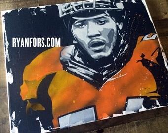 Shane Ray Denver Broncos Stencil Painting