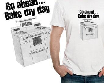 Bake my Day - Vintage Print Men's Foodie T-shirt