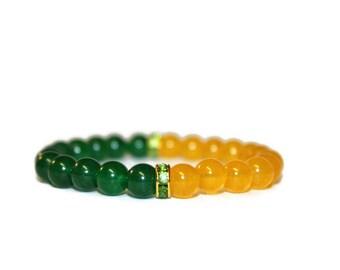 Green N Gold Bracelet