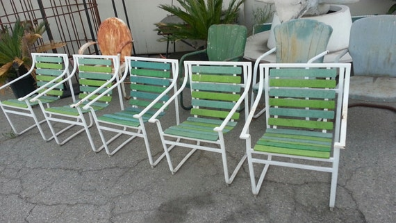 1960s Samsonite Patio Chairs Samsonite Patio Furniture 5 Vintage Samsonite Fl