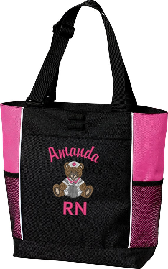 personalized nursing tote bag by catholicserenity