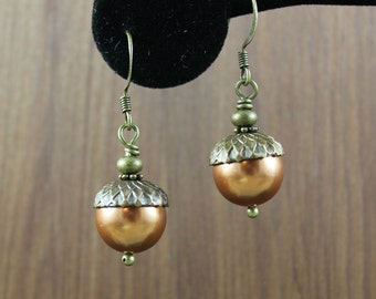 Woodland Fairy ~ Fall Acorn earrings