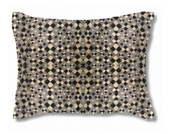 Exclusive Kuba Cloth Design #4 / Standard Size Pillow Sham 30x20 / Soft Brushed Polyester Fabric / Stylish Unique African Art Pattern