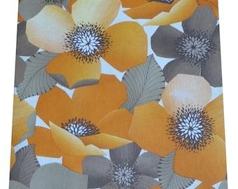 1970s-  Original - Mod Floral Wallpaper Vintage 1960s Seventies Fabulous Orange U Glad Wallpaper