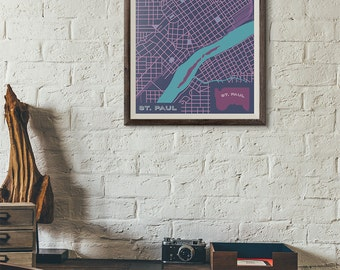 Winter Carnival Edition - St. Paul Vintage Map print