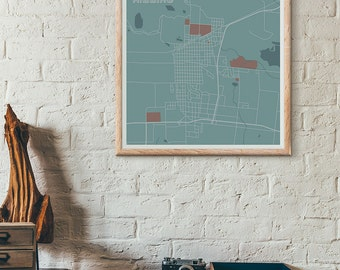 Dylan edition - Hibbing minimalist map print