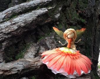 orange Fairy Doll, bendy doll