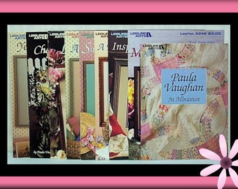 Paula Vaughn Country Chic -- Nine [9] Cross Stitch Booklets/Leaflets!
