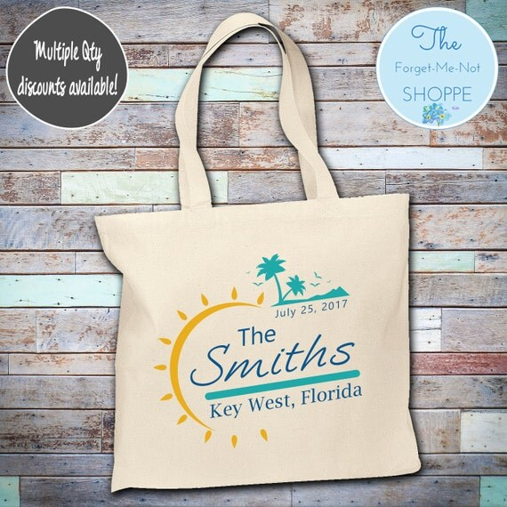 Beach Palm Tree Wedding Tote Bag ~ Bride to Be tote bag, Nautical,Beach Wedding,Mother tote, Wedding party tote, Wedding Favor, Gift Tote