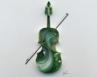 "Quilled Paper Art: ""Violin"""