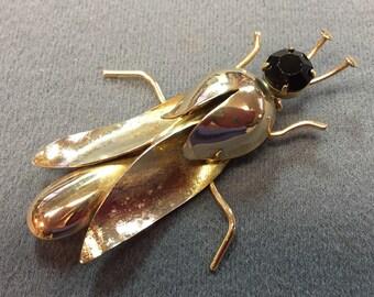 Big Vintage Insect Brooch