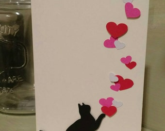 Black Cat Valentines Day Card