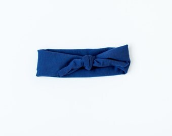 Navy blue knotted headband