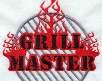 Embroidered Grill Master  Apron