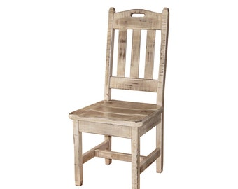 Farmhouse Antique White Glazed Shabby Chic Kitchen Chair