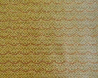 SALT AIR by Cosmo Cricket ~ Fabric ~ Ocean Waves in Sunshine Yellow Gold ~ MODA Fabrics ~ Quilting ~ Sewing ~ Beach ~ Nautical ~ Home Decor