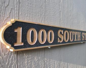 Custom House Sign Outdoor Address Sign Cedar Address Signs Custom Outdoor Signs Personalized Signs Wood Carved Signs House Name Signs Rustic