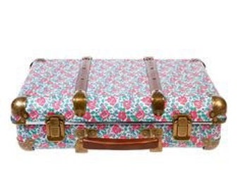 Vintage Floral Poppy Suitcase - Wedding Suitcase for Cards