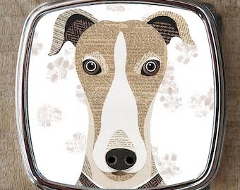 Greyhound dog compact mirror