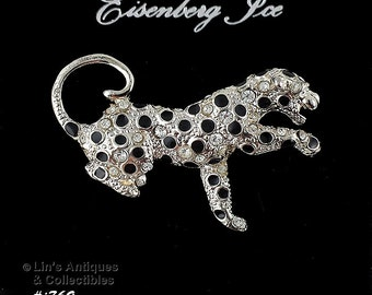 Eisenberg Ice Leopard Pin on Original Store Hang Display Card (Inventory #J769)