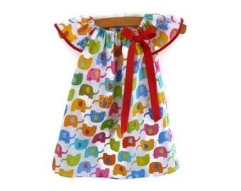 Baby girl - baby dress - little girls clothes - girls dress - infant dress - toddler dress - elephant dress - baby summer dress - girl