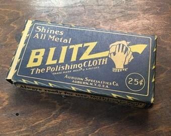 Blitz Polishing Cloth Advertising Box