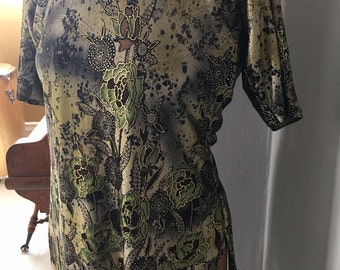 Jade and Gold Asian Inspired Shift Dress