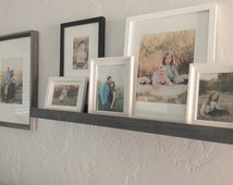 24 inch Picture Ledge, Gallery Wall Shelf, Floating Shelf, Wooden Shelf, Cottage Style Decor, Rustic Home Decor, Gallery Wall Decor