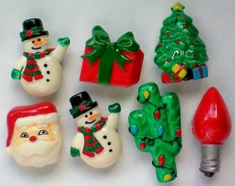Christmas  / Holiday Button Covers - 4350
