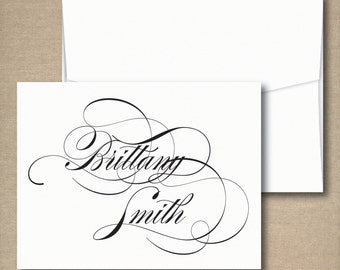 Personalized Stationery - Personalized Stationary - Calligraphy Note Cards - Stationery Set - Custom Stationery/Stationary note cards