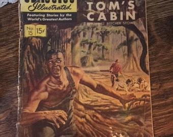 "Vintage Mid 1900's Classics Illustrated Comic Bk: #15 ""Uncle Tom's Cabin"" Harriet Beecher Stowe"