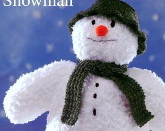 Vintage  Retro Knitting Pattern PDF   The Snowman Soft Toy Christmas
