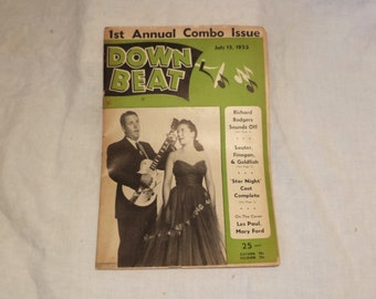 Down Beat Magazine, Vintage Music History, July 1953