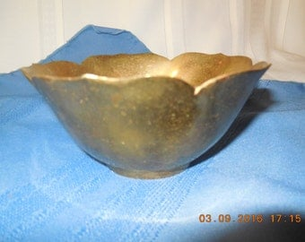 Vintage brass bowl made in India.
