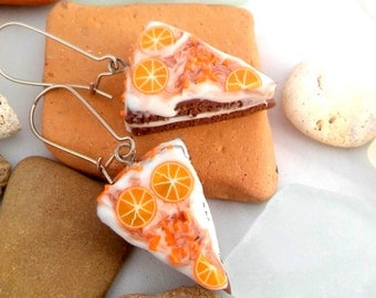 Earrings Polymer Clay Jewelry Food Miniatures Dangle