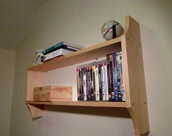 Handmade Wooden Storage Shelf, Wall Unit, Shelving, Shelves