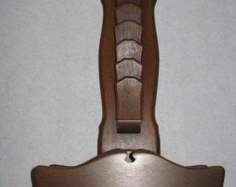 Vintage wood wall mail holder organizer key