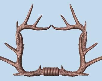 Deer Antler Wall Decor ~ Solid Wood Carving ~ Rustic Wood Art by TheWoodGrainGallery