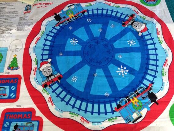 Thomas the Train fabric Christmas Tree Skirt and Ornaments