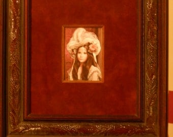 """Small Pati Bannister Framed Lithograph: """"The Duchess"""""""
