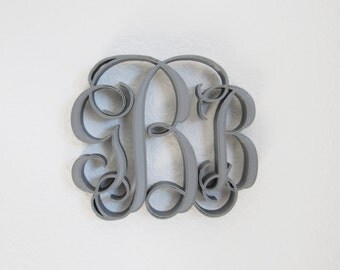 Custom 3d Printed Wedding Monogram Initials design wall art hanging decor initial wedding gift 3-D  art Print Geekery